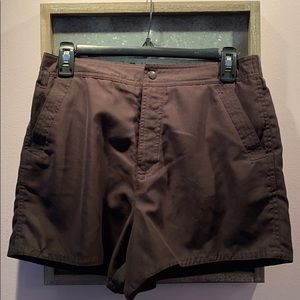 Slimming Dark Brown Swim Shorts - Lined Sz 10🤎